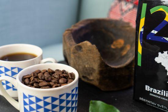 Detail zrnek kávy
