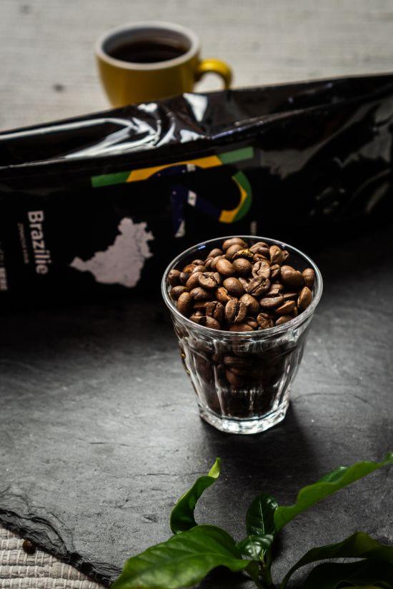 Detail zrnkové kávy
